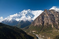 Annapurna mountain, Himalaya Stock Photo