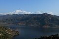 Annapurna range in nepal at pokhara Royalty Free Stock Photos