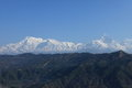 Annapurna range in nepal at pokhara Stock Images