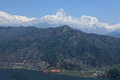 Annapurna range in nepal at pokhara Royalty Free Stock Photography