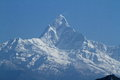 Annapurna range in nepal at pokhara Royalty Free Stock Images