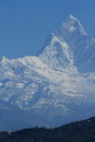 Annapurna range in nepal at pokhara Royalty Free Stock Image