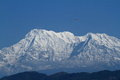 Annapurna range in nepal at pokhara Stock Photo
