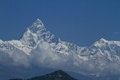 Annapurna range in nepal at pokhara Royalty Free Stock Photo