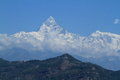 Annapurna range in nepal at pokhara Stock Photography