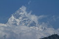 Annapurna range in nepal at pokhara Stock Image