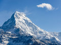 Annapurna South in Nepal Royalty Free Stock Photo