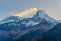 The Annapurnas at sunrise in Nepal Royalty Free Stock Photo