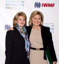 Anne finucane and cynthia mcfadden arrive on the red carpet for the international women's media foundation courage in journalism Stock Photo