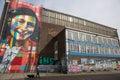 Anne Frank Amsterdam graffitti Royalty Free Stock Photo