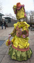 Annecy france february environmental portrait unidentified disguised person streets annecy venetian carnival which celebrates Stock Photo
