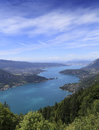 The Annecy lake, haute-savoie, France Stock Photos
