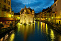 Annecy at night Royalty Free Stock Images