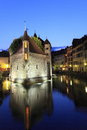 Annecy at night Stock Image