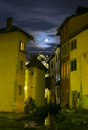 Annecy at night beautiful france Stock Image