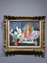 Annelies, White Tulips and Anemones - painting by Henri Matisse Royalty Free Stock Photo