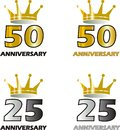 Anneversary logo vector of anniversary on white background Stock Images