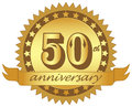 Anneversary vector logo of anniversary on white background Royalty Free Stock Photo