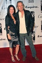 Annie bierman and david carradine at the hollywood legacy awards gala at the esquire house beverly hills ca Stock Photo