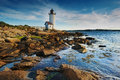 Annisquam lighthouse Stock Photos