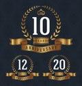 10 Anniversary badge Royalty Free Stock Photo