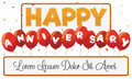 Anniversary Banner Template with Balloons, Vector Illustration Royalty Free Stock Photo