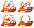 Anniversary banner wreath a laurel celebrating an wedding or occasion Royalty Free Stock Photography