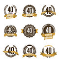 Anniversary Gold Badges 40th Years Celebrating