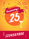 Anniversary happy holiday festive celebration background with ri Royalty Free Stock Photo