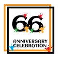 66 anniversary logo vector template. Design for banner, greeting cards or print