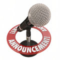 Announcement Microphone Public Address Speech Important News Ale Royalty Free Stock Photo