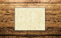 Announcement paper wooden texture Royalty Free Stock Images