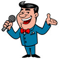 Announcer cartoon illustration of an Stock Images