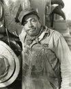 Annoyed workman Royalty Free Stock Photo