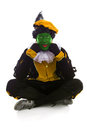Annoyed zwarte piet black pete typical dutch character part of a traditional event celebrating the birthday of sinterklaas in Stock Image