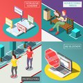 Annoying Advertisement Isometric Design Concept Royalty Free Stock Photo