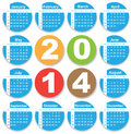 Annual calendar design for english eps sunday to saturday Royalty Free Stock Image