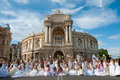 "Annual event "" First Bride Parade"" Royalty Free Stock Photography"