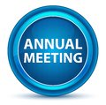 Annual Meeting Eyeball Blue Round Button