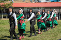 Annual meeting of pomaks in greece hilia aug folk dancers dancing at the the hilia location all the villages the area on aug Stock Image