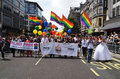 The annual pride march through london that celebrate gay lesbia june goes londons oxford street celebrates lesbian and bi sexual Royalty Free Stock Image