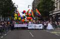 The annual pride march through london that celebrate gay lesbia june goes londons oxford street celebrates lesbian and bi sexual Stock Images