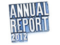 Annual Report Stock Image