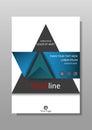 Annual report, book cover design. Vector.