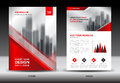 Annual report brochure flyer template, Red cover design Royalty Free Stock Photo