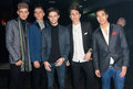Annual supermodel uk agency awards in london th november boys band franklin lake attends the night held at press night club Stock Images