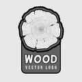 Annual tree growth rings, trunk cross section hipster vector log Royalty Free Stock Photo
