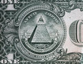 Annuit coeptis motto and the eye of providence one dollar bill on reverse side american usd Royalty Free Stock Photos