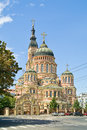 Annunciation cathedral kharkiv ancient orthodox in city symbol of city Royalty Free Stock Photos