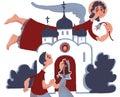 Annunciation. Sunday. Family. Church